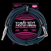 Ernie Ball Szövetkábel Fekete/Kék